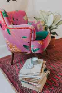 Anthropologie chair and Persian rug