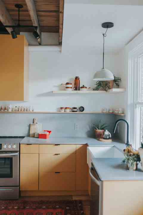 retro kitchen renovation by The Chris & Claude Co.