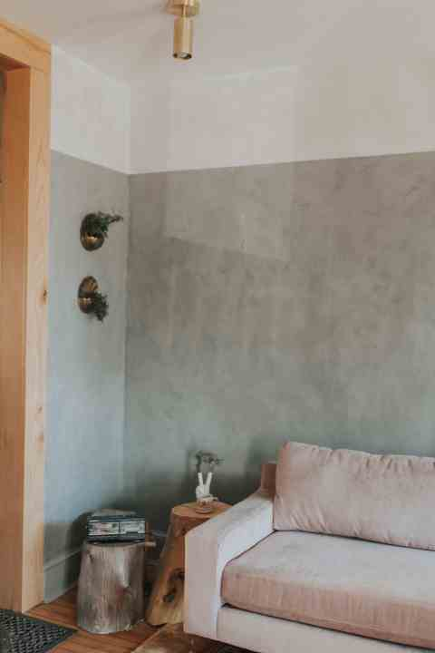 two toned lime wash renovation