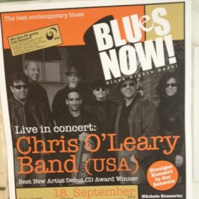 Blues Now Poster of the Chris O'Leary Band