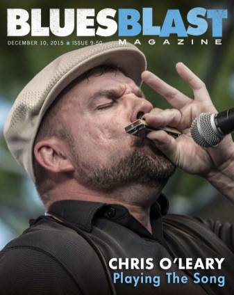 Chris O'Leary Blues Blast Magazine Cover