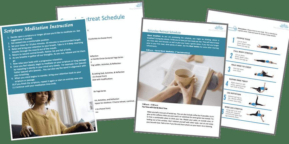 unplug personal christian retreat kit