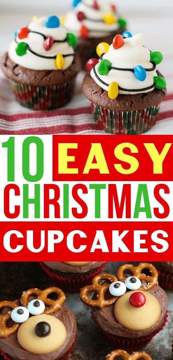 Easy Christmas Cupcakes Ideas.40 Christmas Cupcake Recipes Delicious Christmas Treats