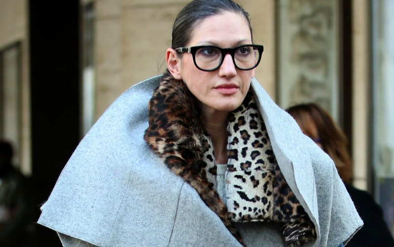 STREET STYLE: J Crew President Jenna Lyons attend New York Fashion Week at Lincoln Center in New York City