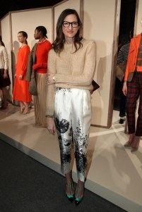 NEW YORK, NY - FEBRUARY 14: J. Crew Creative Director Jenna Lyons poses on the runway at the J.Crew Fall 2012 Presentation during Mercedes-Benz Fashion Week at Lincoln Center on February 14, 2012 in New York City. (Photo by Dario Cantatore/Getty Images for Mercedes-Benz Fashion Week)