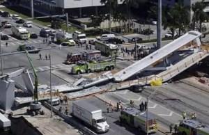 Pedestrian Bridge Collapses In Miami, Killing Several