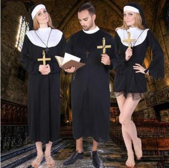 2016-High-quality-Black-classic-Priest-Costumes-Adult-Jesus-Virgin-Mary-pastor-font-b-nun-b
