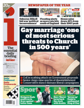 """""""Gay marriage 'one of most serious threats to Church in 500 years'"""""""