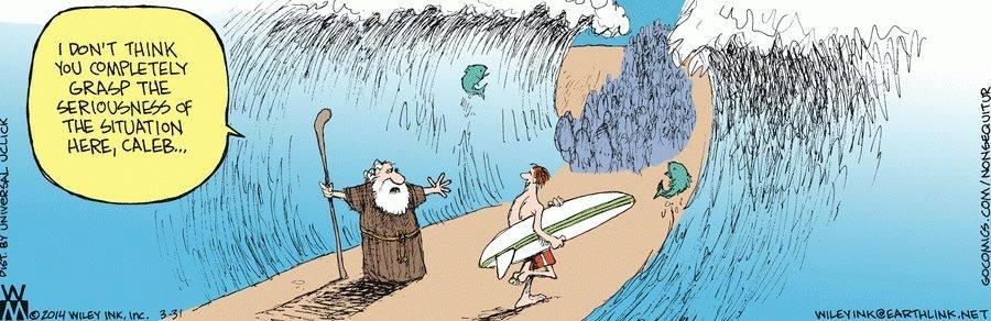 When Moses Went Through The Red Sea...