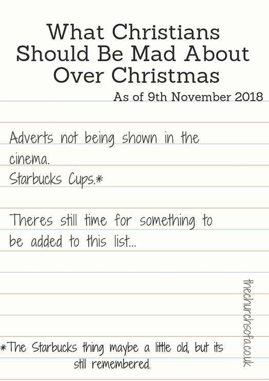 Christians Should Be mad About Over Christmas 2018