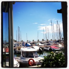 View from Laury restaurant