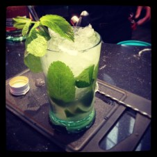 Mojito time, made by moi! We were given a quick class on how to make the perfect mojito