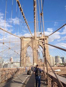 Finally made it to the Brooklyn Bridge...worth it though!