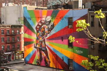 Beautiful murals viewed from the High Line