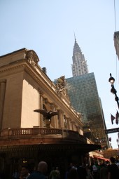 Grand Central station & Chrysler building from the ground