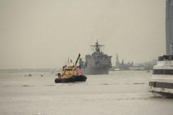 Big ship and escort