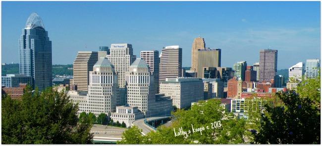 View of Cincinnati Skyline from Mt. Adams