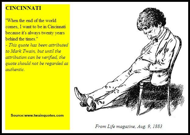 Cincinnati according to Mark Twain