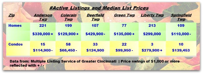 Cincinnati Townships Real Estater Weekly Update 090214