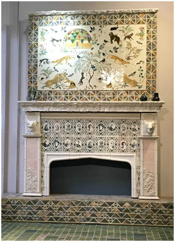 Picture of a rookwood pottery fireplace