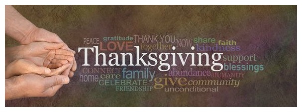 Picture of hands giving thanks for thanksgiving