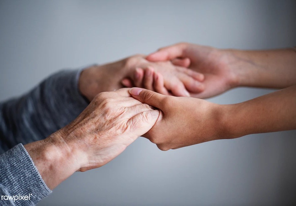 photo of helping hands