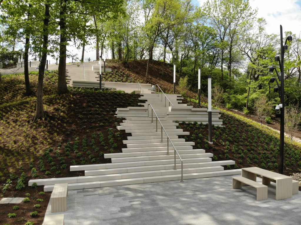 Photo of steps Art Climb Cincinnati Art Museum