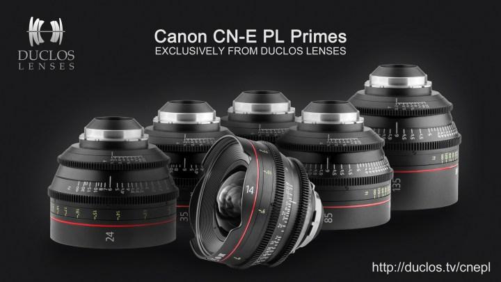 Canon CN-E PL Primes From Duclos Lenses
