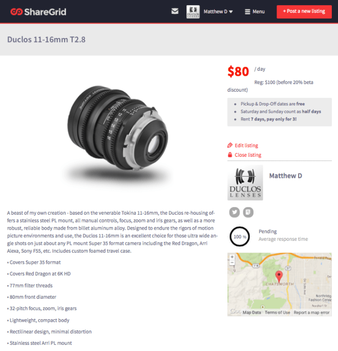 ShareGrid - listing
