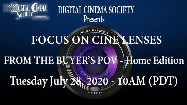 "Recap: DCS Live ""Focus on Cine Lenses"" Event"