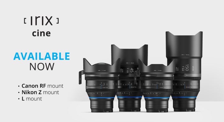 Irix Adds Two More Mount Options to Cine Line