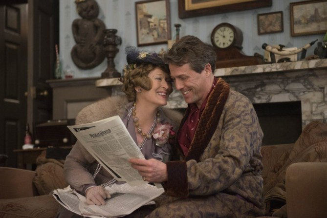 Meryl Streep as Florence Foster Jenkins and Hugh Grant as St Clair Bayfield in FLORENCE FOSTER JENKINS by Paramount Pictures, Pathé and BBC Films