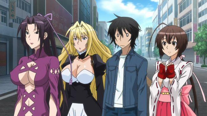 Gamers Discussion Hub b5b59a795c3a3984a7eaa8fc7e13c18d 20 Best Ecchi Harem Anime With Badass Male Lead