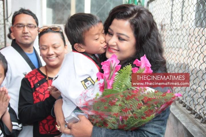 Rekha Thapa in Raksha Nepal to meet Rape victims