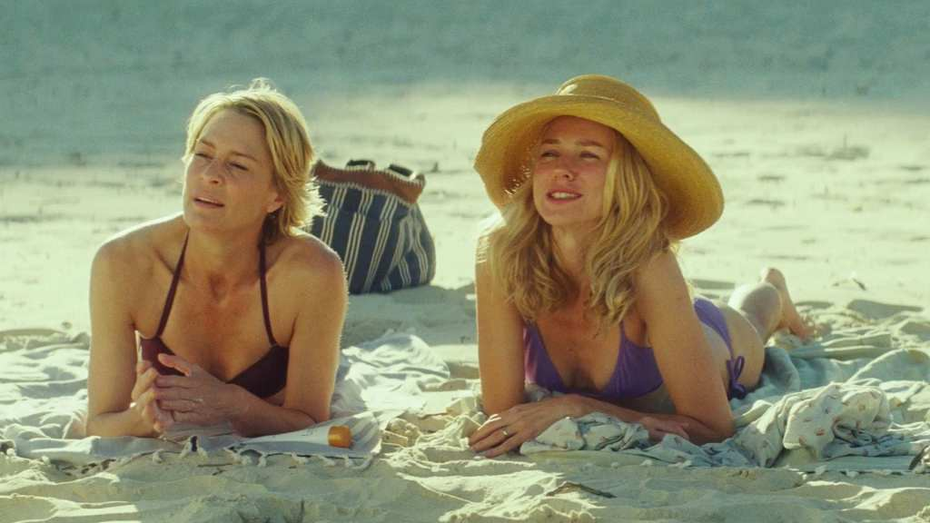Roz and Lil on the beach in Australian movie, Adore