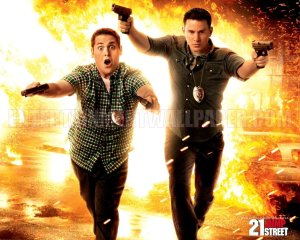 Promotional wallpaper for 21 Jump Street movie