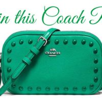 Enter To Win This Gorgeous Teal Coach Purse!