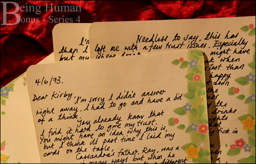 Lettre d'amour pour Kirby - Being Human Series 4 Bonus