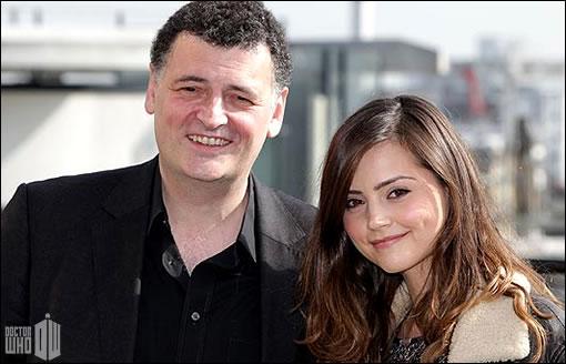 Stephen Moffat et sa nouvelle actrice ^^