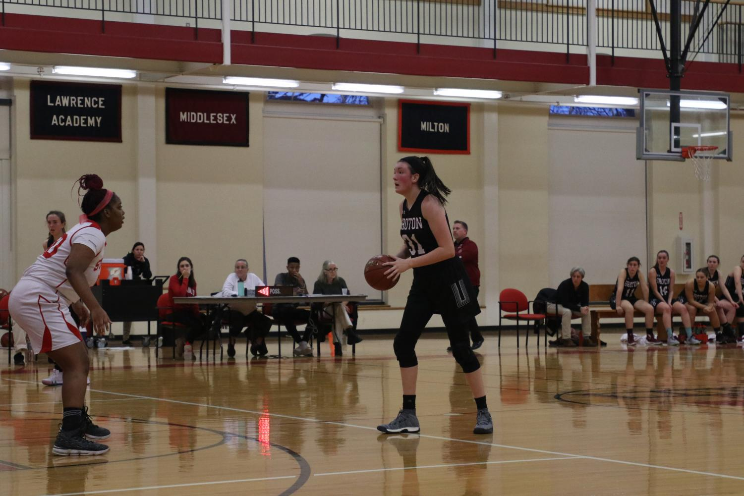 Meghan during a game.
