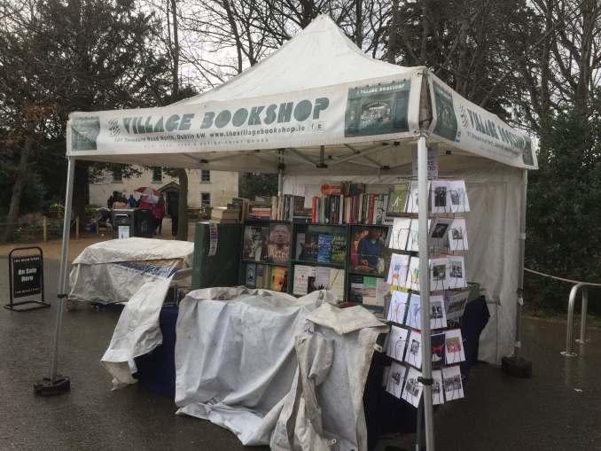 The village bookshop stall taken in Marlay Park April 2018