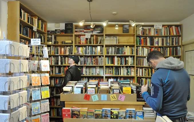 Books categorized in crime, classics, and biographies. Image credit: Stine Ødegård