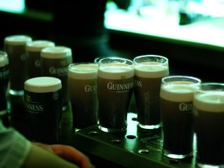 Guinness pints bar