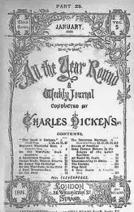 Cover of third series, January 1891 issue of All the Year Round.