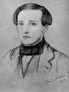 Charles Allston Collins, dating from 1850, drawn by fellow illustrator John Everett Millais.