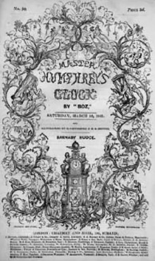 Cover of an 1840 of the periodical Master Humphrey's Clock.