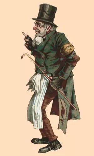 Illustration of Trotty Veck by J. Clayton Clarke (Kyd).