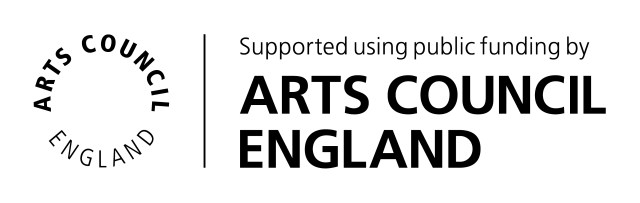 Arts Council England logo acknowledging support of public funding