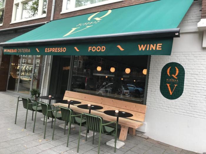 Winebar QV aan de Beethovenstraat in Amsterdam