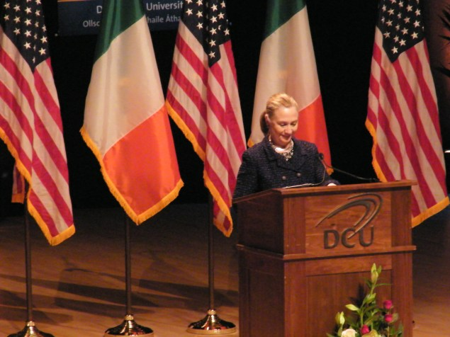 Mrs Clinton at DCU.Photo:Martha Gberevbie